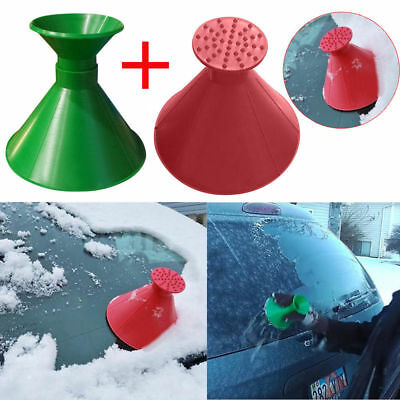 Scrape A Round Magic Cone-Shaped Windshield Ice Scraper Snow Shovel Tool Hot
