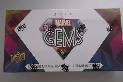 2016 Upper Deck Marvel Gems Trading Cards Factory Sealed Hobby Box