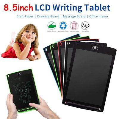 """8.5""""LCD eWriter Tablet Writing Drawing Memo Message Boogie Board Note Lot IU8"""