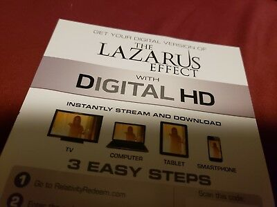 The Lazarus Effect Digital Hd Code  ONLY