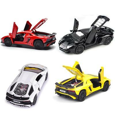 1:32 For Lamborghini LP750 Diecast Vehicles Model Car Sound Light Pull Back Toy