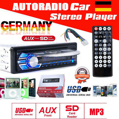 AUTORADIO Stereo AUX-In USB/SD MP3 WMA DVD/CD DIN Tuner Auto PKW Radio Player BM