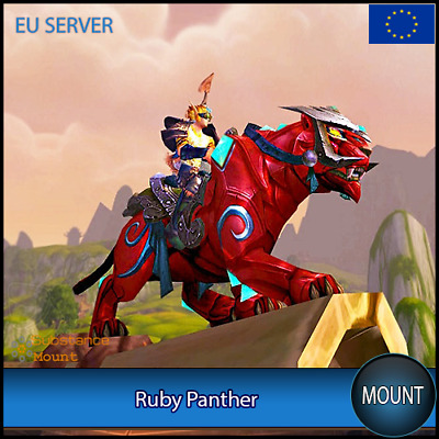Ruby Panther WoW Mount | EU Server | World Of Warcraft