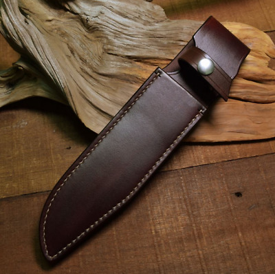 knife blade sheath cover scabbard case bag cow leather customize brown Z1009
