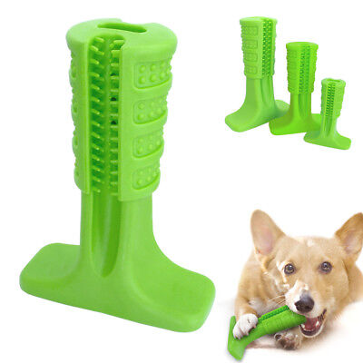 Toothbrush Dog Chew Toy Pet Bite Brushing Stick Tooth Cleaning Puppy Toys Green