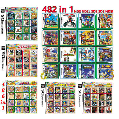 500/486/482/468/488/208 In 1 Video Game Card For Nintendo NDS 2DS 3DS NDSI NDSL