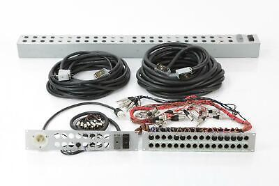 Mogami Snake 1/4 TS XLR MIDI i/o Breakout Panel Studio Stage Box Patchbay #34347