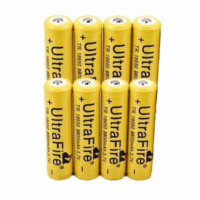 Flat Top 18650 Li-ion 9800mAh 3.7V Rechargeable Battery for Flashlight Torch