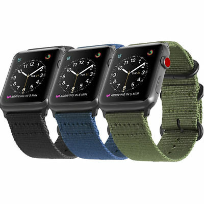 For iWatch Apple Watch Series 4 3 2 1 44/42mm Nylon Woven Band Strap Replacement
