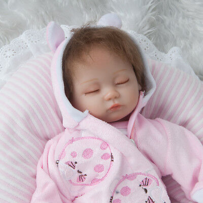 "18"" Full Body Silicone Reborn Dolls Lifelike Baby Girl Newborn Doll XMAS Gift UK"