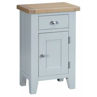 Tenby Grey Painted Furniture Small 1 Door Cupboard Cabinet Unit with Drawer