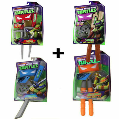 2016 Teenage Mutant Ninja Turtles Weapons Kids toys gift Sword Mask Combat Gear