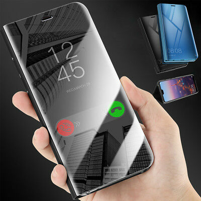 For Huawei Mate 20 / P20 Pro Clear View Mirror Touch Smart Case Flip Stand Cover
