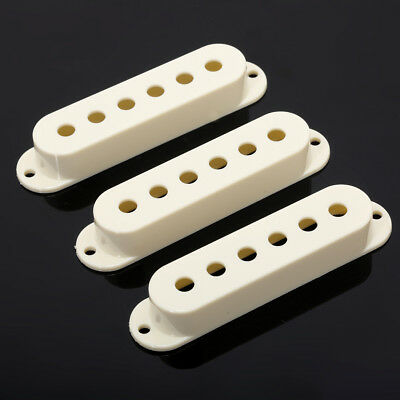 Musiclily 5 Pieces Light Cream Plastic Single Coil Electric Guitar Pickup Cover