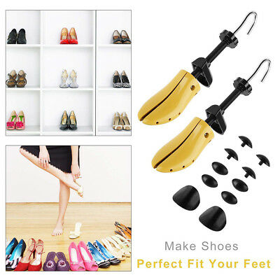 WO_ One Pair Wooden Shoe Stretcher Adjustable Size For Men Women
