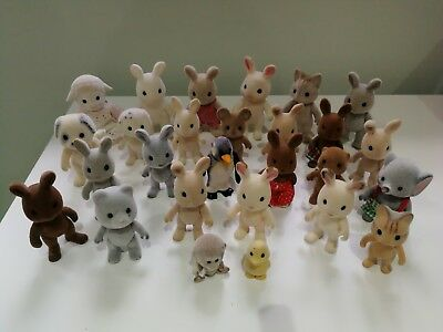 Sylvanian Families Bundle Of Figures In Played With Condition