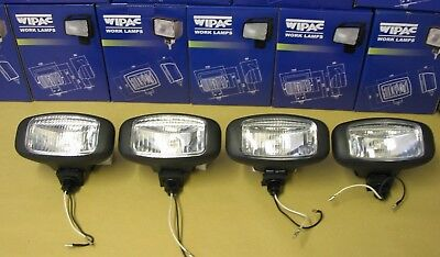 Work Lamps 4 x S7305 WIPAC Roof Bar Spot/Work Lamps Lights, 12V 55Watt H3