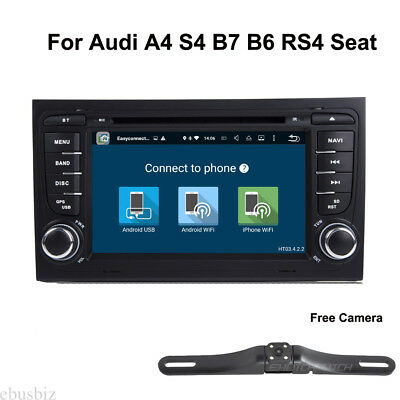 Dash DVD Player GPS WiFi Bluetooth Stereo Android 8.1 for Audi A4 S4 B7 B6 Seat