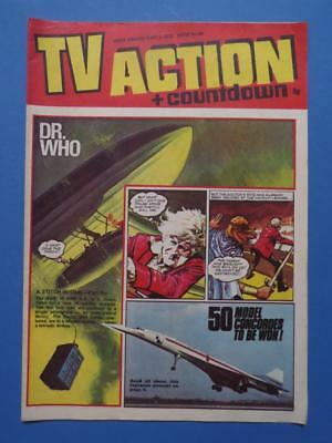 Tv Action + Countdown 68 1972 Dr Who Stingray Captain Scarlet! Very Nice!