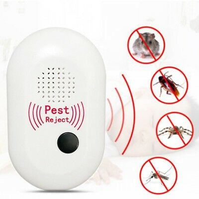 4X(Enhanced Version Electronic Ultrasonic Anti Mosquito Insect Repeller Ra F5A3)
