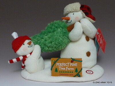 2014 Singing Snowman The Perfect Tree Duo Hallmark Jingle Pals Christmas Plush