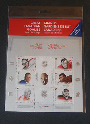 Canada - Great Canadian NHL Goalies from the NHL -  Stamp Pane