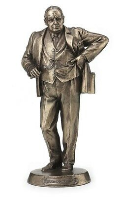 "8.5"" Winston Churchill Prime Minister Britain Statue Sculpture Historical Decor"