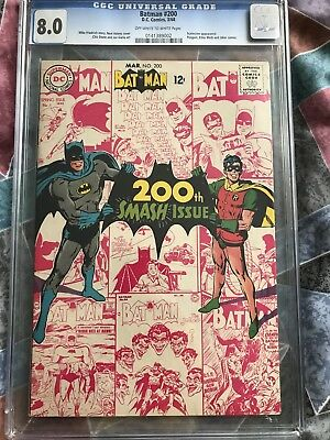 Batman #200 - March 1968 Issue CGC Official Grade: 8.0 FN+ DC Comic Silver Age