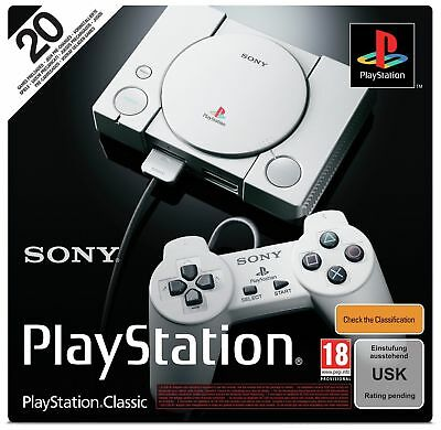 Sony PlayStation Classic Console with 20 Games Preloaded - Grey BRAND NEW Sealed
