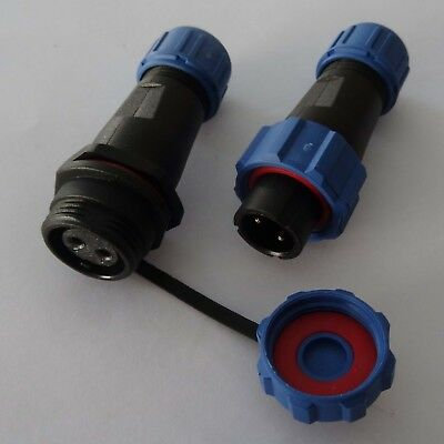 230V 12V IP68 round Plug, Connector, Connector Plug with Lid Waterproof