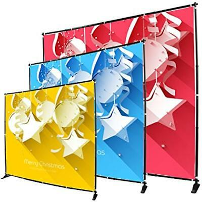 Display Chart Stands Factory USA 8' Telescopic Photography Banner Step Repeat