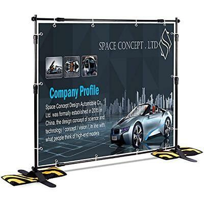 T-Sign Chart Stands 8'x8' Professional Backdrop Banner Large Tube Heavy Duty For