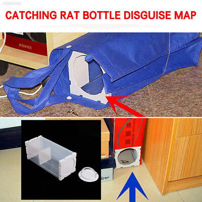 35D4 White Humane Pest Bait Device Mouse Capture Cage Durable Practical Mice