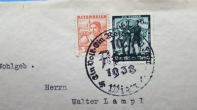 1938 nazi stamps germany-Österreich-walter lampl - RARE