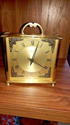 Vintage Tempora Smith 8 Day Floating Balance Clock Made In Great Britain Working