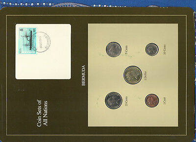 Coin Sets of All Nations Bermuda 1986-1991 UNC $1 25 cent 1988 10 cent 90