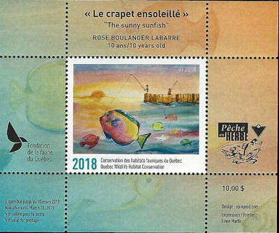 "2018 Canada Quebec  Wildlife ""NEW FIRST EDITION"" -DQ90  Junior MNH"