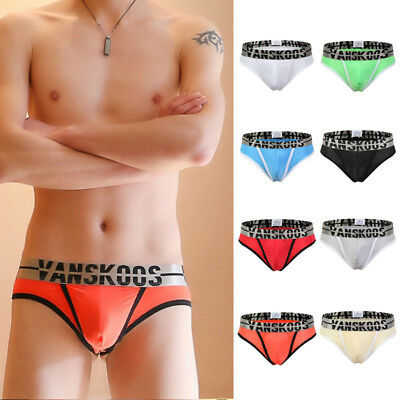 Mens Ice Silk Pouch G String Sexy Low Rise Bulge Thongs Underwear Underpants Y95