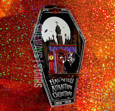 2005 DISNEY HAUNTED ATTRACTIONS PIN Limited Ed 1000 mansion doom buggy glow RARE