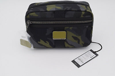 db243ad308 New Tumi Alpha Bravo Reno Travel Kit Shave Kit Green Camo Black  150