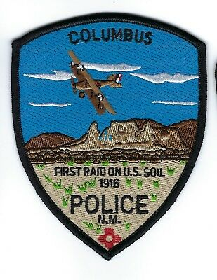 Columbus (Luna County) NM New Mexico Police Dept. patch - NEW!