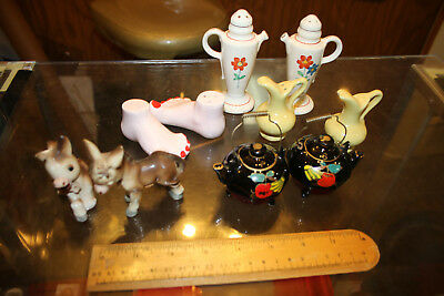 Vintage Mixed lot of 5 Salt & Pepper Shakers Lot #2 WOW LOOK  JSH