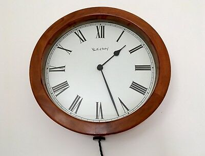 """Superb Vintage Large 18"""" Smith of Derby Electric Wall Clock School Industrial"""