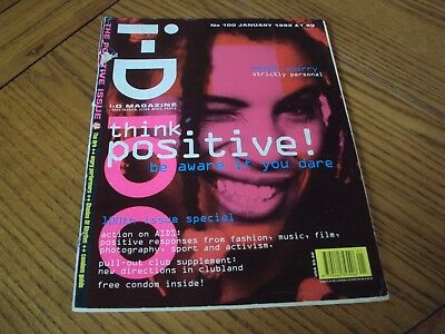 I-D Magazine Rare 100Th Edition January 1992 The Positive Issue