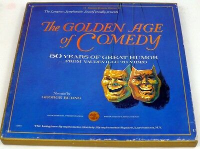 Near Mint 1971 THE GOLDEN AGE OF COMEDY 5xLP Box Set George Burns
