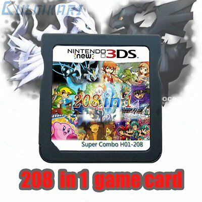 208 in 1 Game Games Cartridge Multicart For Nintendo DS NDS NDSL NDSi 2DS 3DS XL