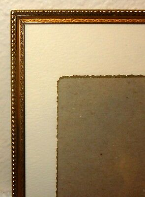 "Vintage BRASS/Metal PHOTO/Picture FRAME 5x7 5"" x 7""  with Mat for 3x4"""