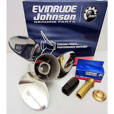 Johnson/Evinrude New VIPER V4 Propeller 13.875X21 Stainless Prop 0763932; 763932