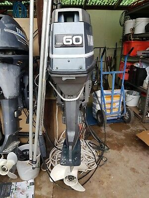 60 hp yamaha outboard 2 stroke long shaft 1992 model with controls