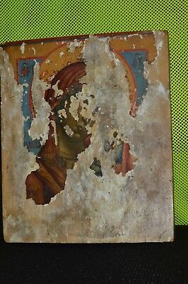 ORIGINAL Antique Icon KAZANSKAYA MOTHER 19th Russian Orthodox Hand Painted Wood